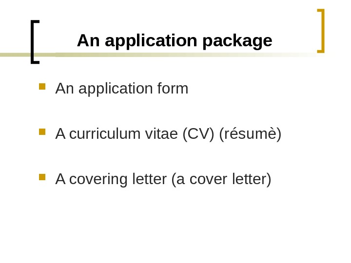 Cover letter applying for a vacancy