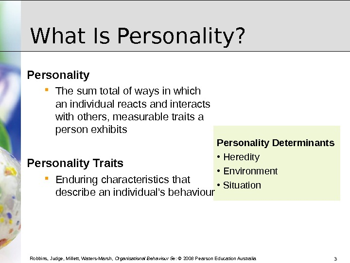 five traits predict behaviour at work The big five personality traits aer neuroticism, extroversion in 1963, wt norman replicated cattell's work and suggested that five factors would be but varies with context, so that predicting behavior by personality test was impossible they further argued that character, or.