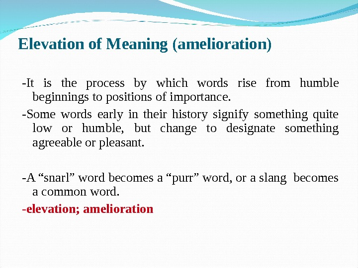 the changing meaning on words Noun change - the result of alteration or modification example:- there were marked changes in the lining of the lungs change - the balance of money received when the amount you tender is greater than the amount due.
