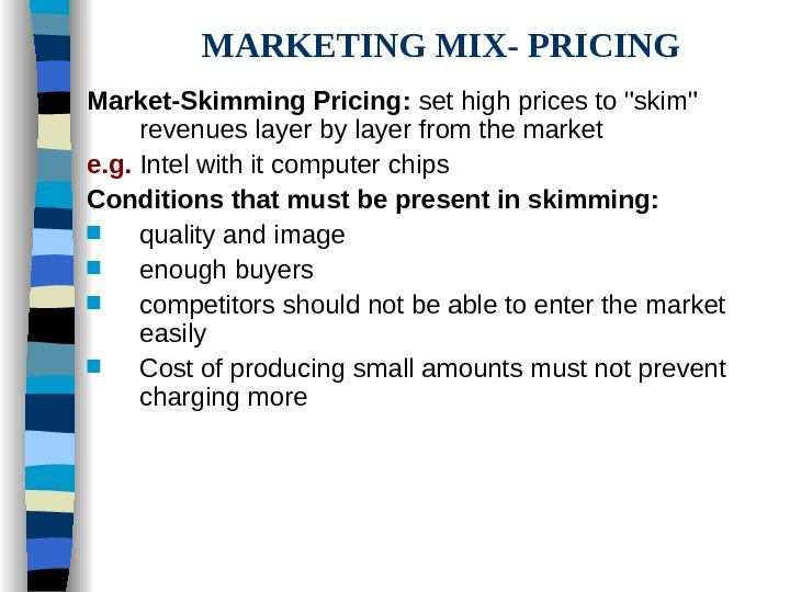 marketing mix pricing