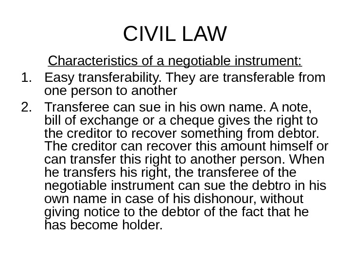 law on negotiable instruments sections 1 10