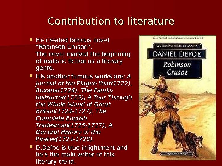 the interest of daniel defoe in economic theory