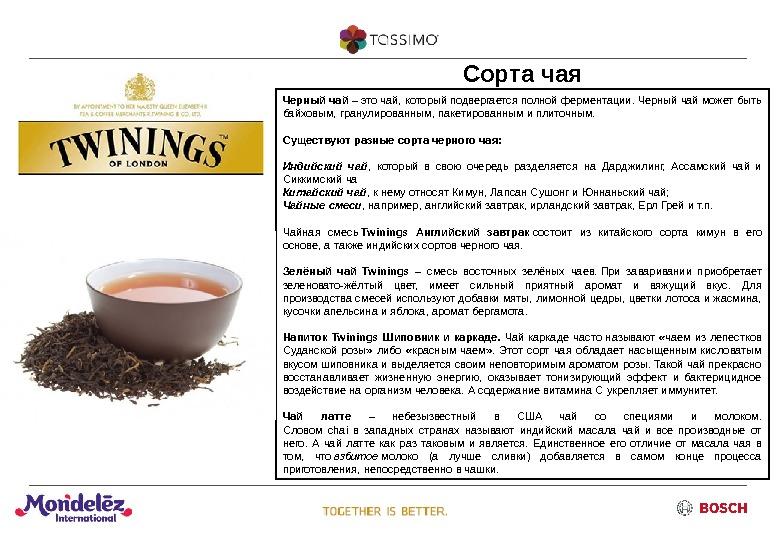 Китайский чай описание сортов