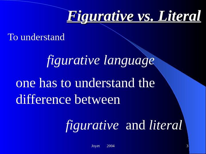 literal vs figurative blindness essay