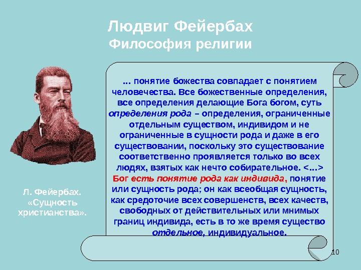 Людвиг фейербах антропологический принцип в философии человек осознаёт себя человеком лишь в общении, в основе своей