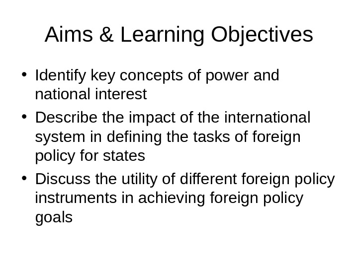 foreign policy 5 essay