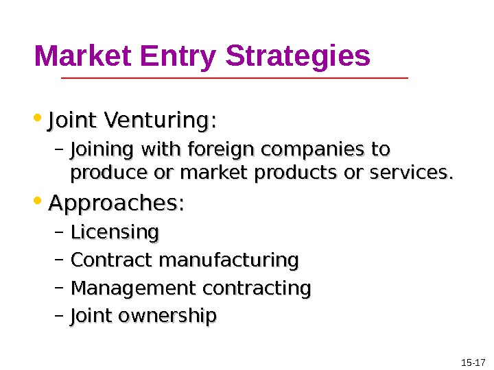 market entry strategies 3 issue 12 3 third quarter '98 market by having customers place their orders directly with dell by phone, fax or computer this direct channel revolutionized the method.