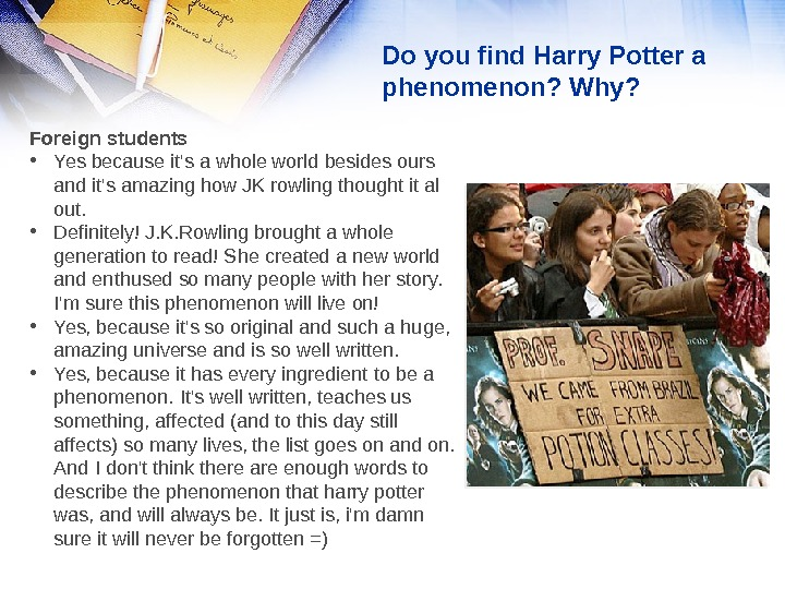 Harry Potter Literary Analysis