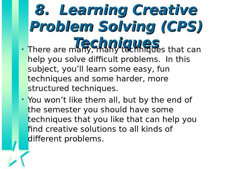 8D Problem Solving Technique