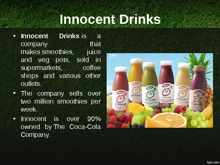 innocent drinks marketing budget