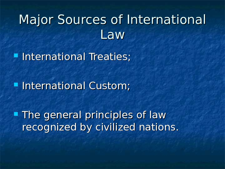 an analysis of international laws in sovereign states and other entities International law is dominated by two competing theories of state recognition,  with  the constitutive theory states that recognition of an entity as a state is not  automatic  existence of the state is independent of recognition by the other  states  that the commission mixed politics into its legal analyses.