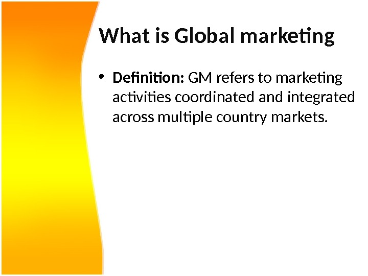 introduction to international marketing marketing essay Marketing research is the function that links the consumer, customer, and public to the marketer through information - information used to identify and define marketing opportunities and problems generate, refine, and evaluate marketing actions monitor marketing performance and improve understanding of marketing as a process.