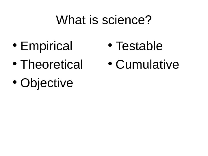 a discussion on whether sociology is a science Is sociology a science a classroom exercise for promoting discussion the question of whether sociology is a science has a long history in the discipline.