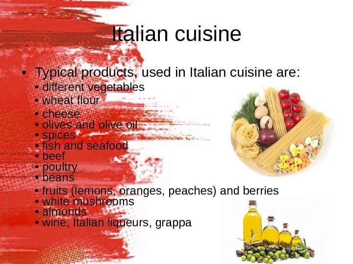 italian cuisine powerpoint