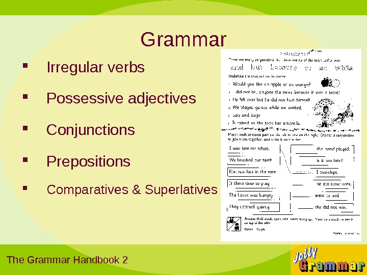 jolly phonics grammar handbook 1