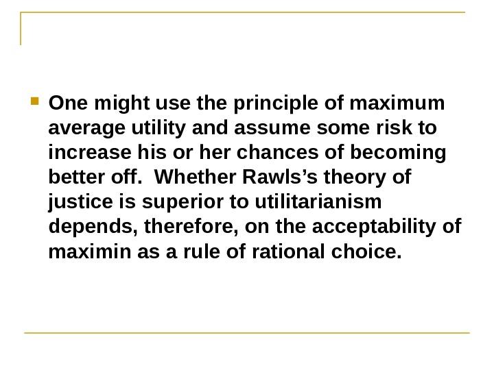 rawls maximin principle