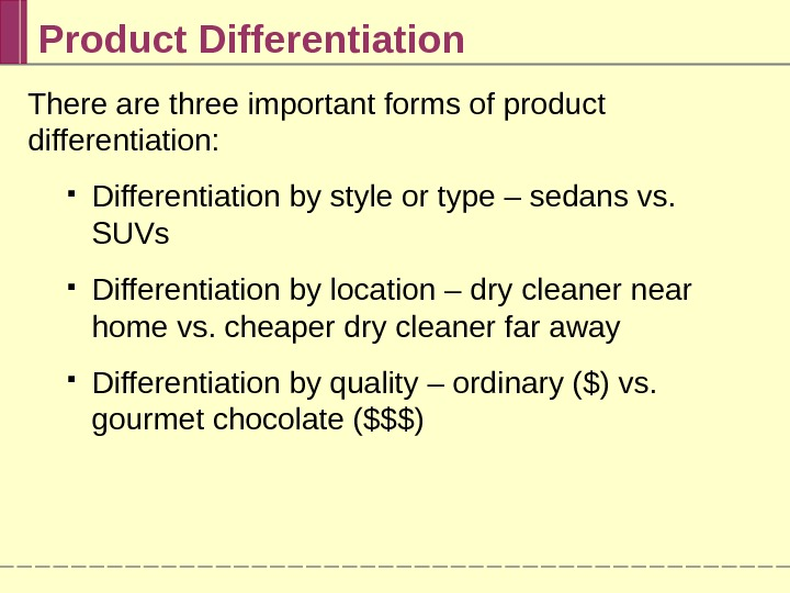 product differentiation essay