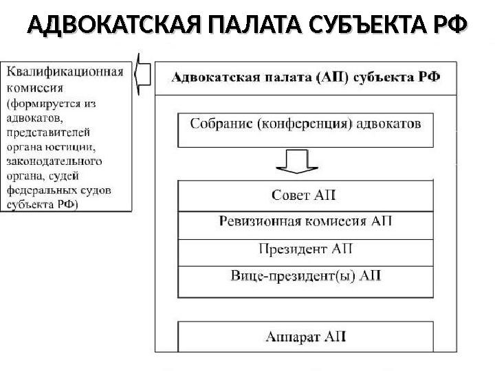 того, Структура адвокатской палаты субъекта рф Диаспаре