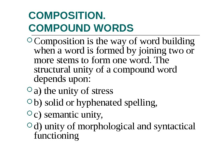 compound and vietnamese word formation