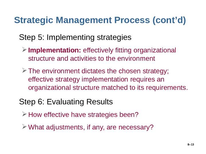 Strategy implementation management