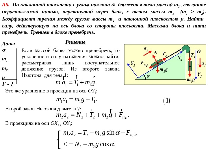 Грузы массой m и m связаны нитями89