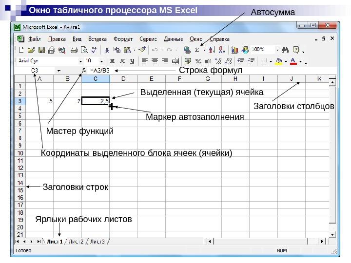 Презентацию Табличный Процессор