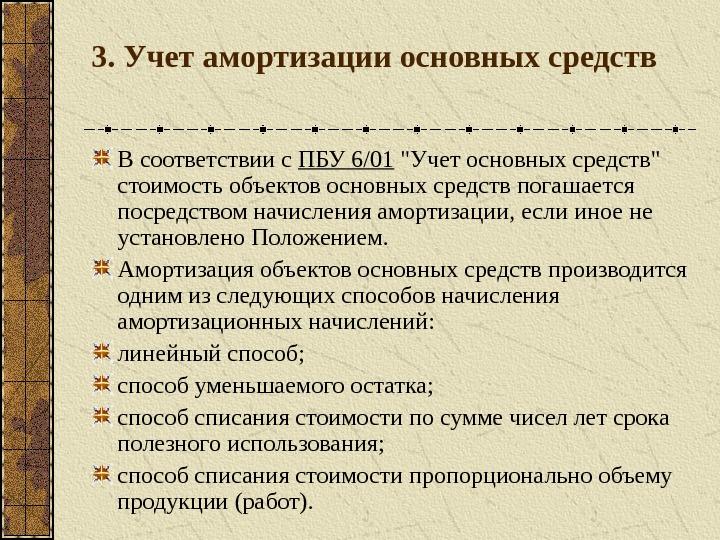 средств амортизации основных порядок шпаргалка начисления