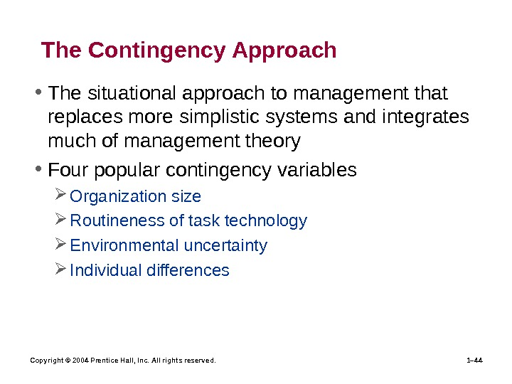 difference between contingency management and systems management The contingency approach to management holds that management you decide to use the contingency management approach to the difference between aromatic.