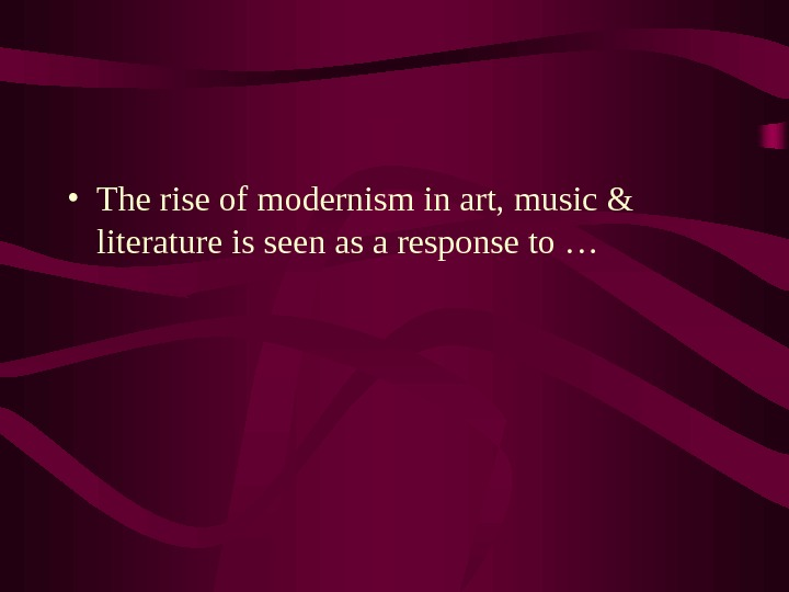 features of modernism
