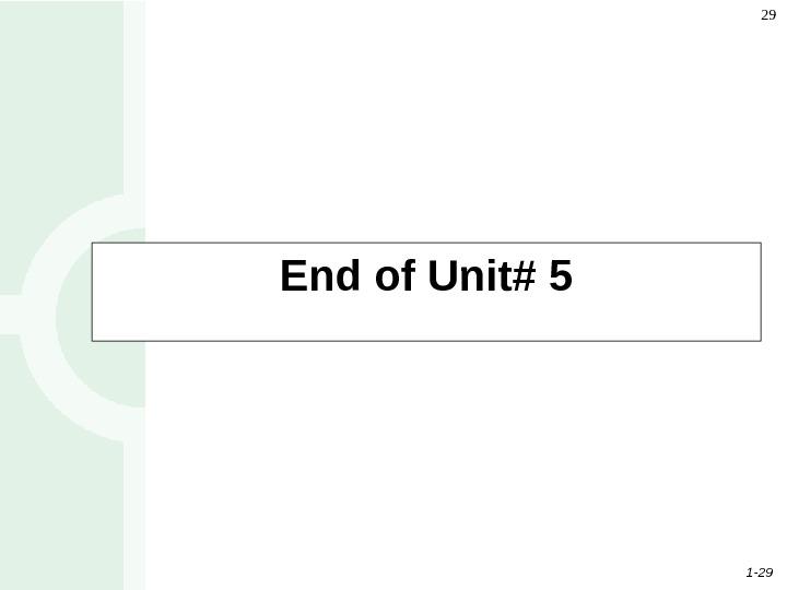 1 11 Unit 5 Process Analysis
