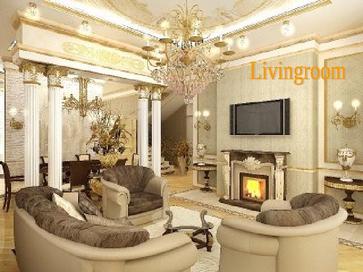 Интерьер гостиной в классическом стиле с камином фото