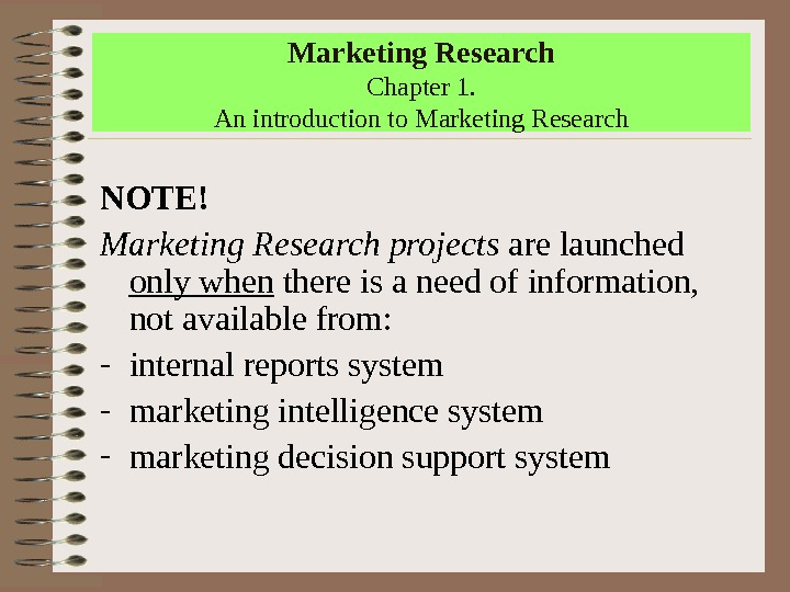 marketing research introduction Knowing how to write an introduction is yet another part of the process of writing a research paper.