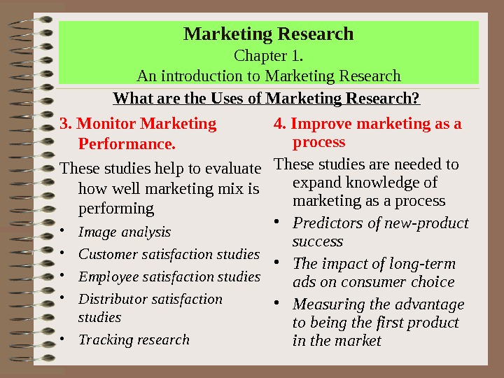 an introduction to the definition of marketing research Introduction to marketing memorizing a definition is unlikely to be useful it is important to examine through marketing research consumers' true motives.