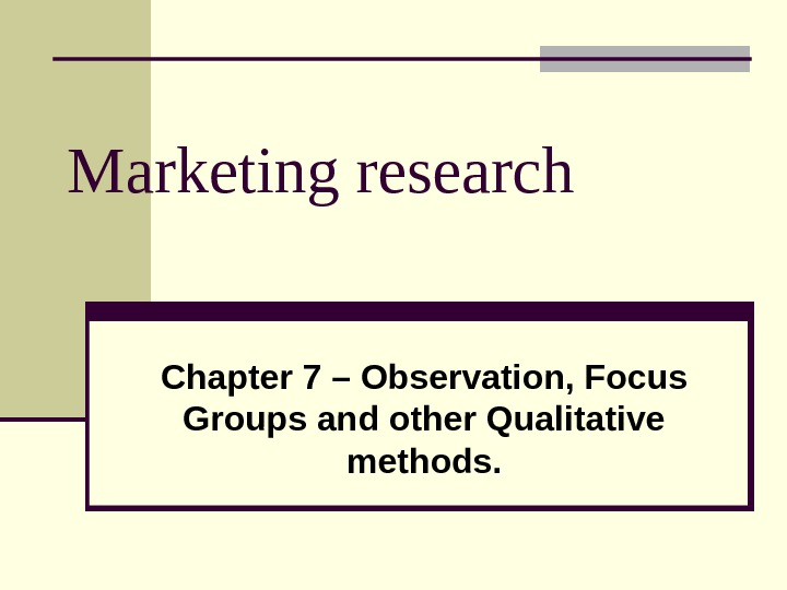 market research observation Observational research consists of monitoring ongoing behaviors in appropriate environments for marketing research, this can include observations in buying environments such as retail outlets.