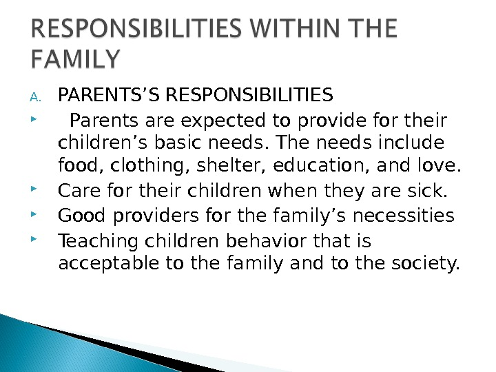 an analysis of parents responsibility Venezuela's new labour law: promoting mutual parental responsibility venezuela analysis has been an essential tool not just for those trying to keep up to.