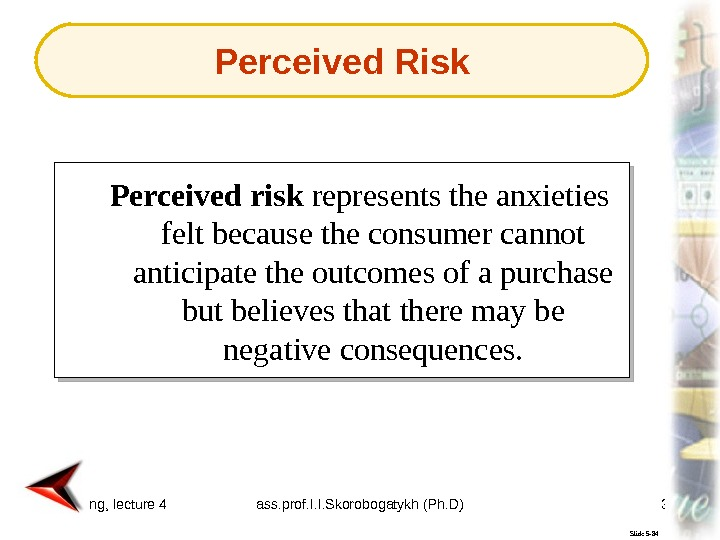 consumer perceived risk about my product