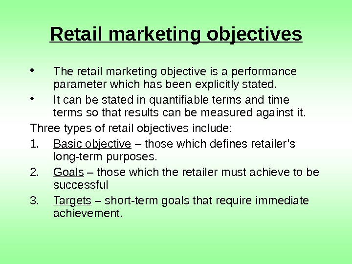 objective of retailing Sales associate resume objective statements your sales resume objective should clearly convince the reader that your resume is worth serious consideration.