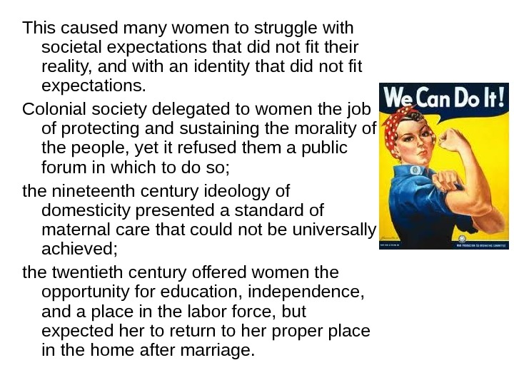 role of women in present society