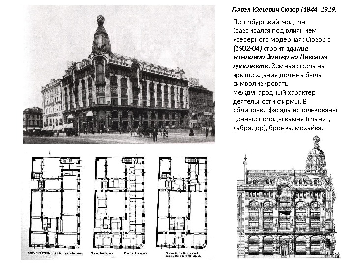что оно архитектор павел юльевич сюзор такое