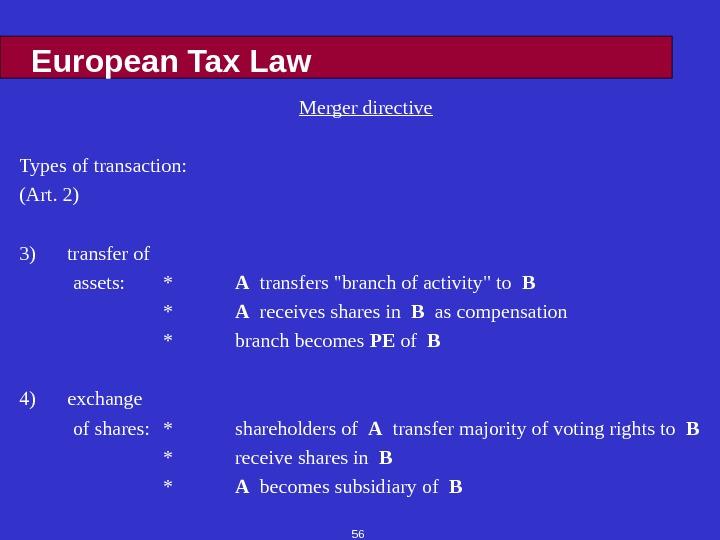 european law directive