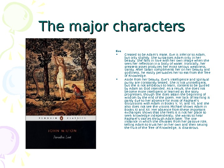 context of paradise lost by john milton essay Need help with book 1 in john milton's paradise lost check out our revolutionary side-by-side summary and analysis.