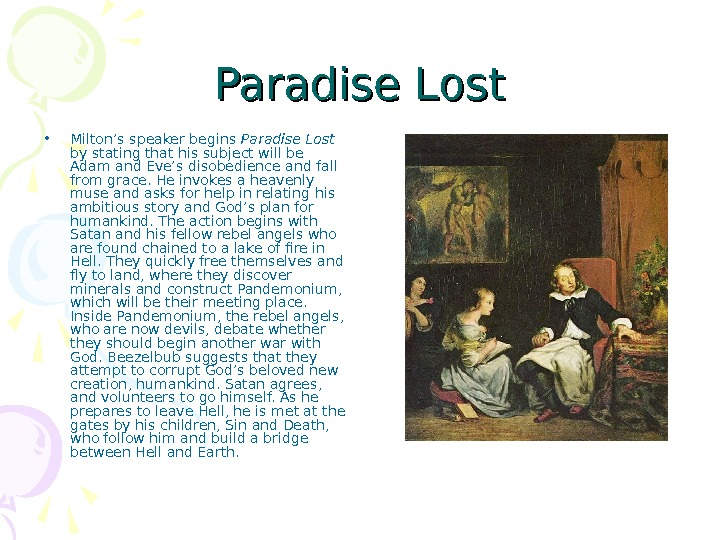 essay questions for paradise lost Paradise lost essay questions - instead of spending time in inefficient attempts, get specialized assistance here dissertations and essays at most affordable prices.