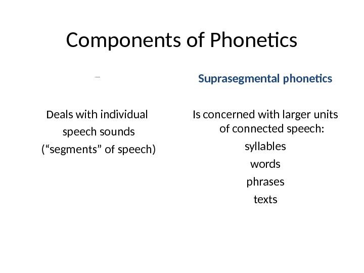 the subject matter of phonetics essay