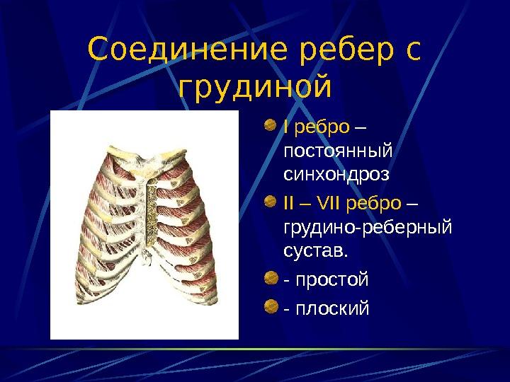 ушиб грудино-реберные суставы