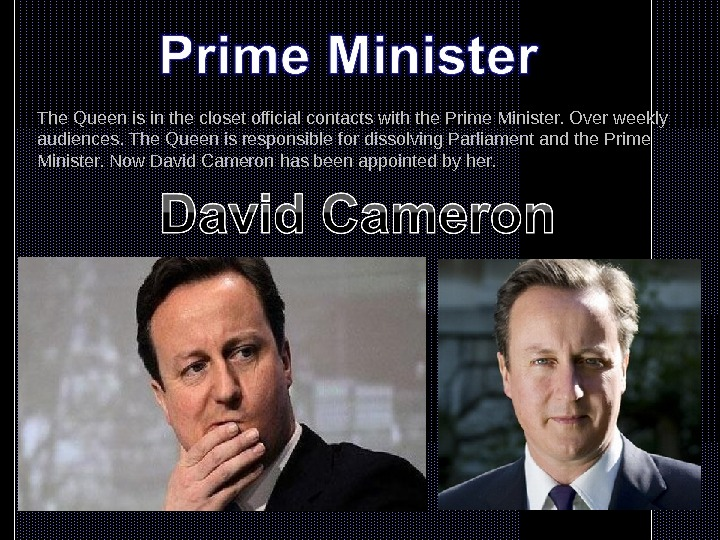 'the uk prime minister is the