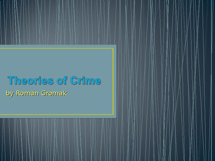 cultural perspectives on crime essay View and download cross cultural psychology essays examples also discover topics, titles, outlines, thesis statements, and conclusions for your cross cultural psychology essay.