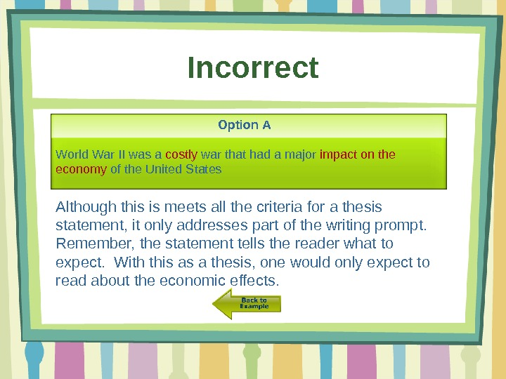 thesis statement writing activity 21042013  the basics of writing a thesis statement or introduction sentence check out the easybibcom tutorial for works cited page help  .