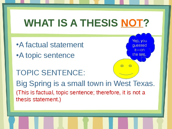 practice writing a thesis