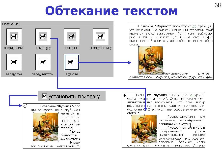 Как сделать обтекание рисунка в презентации
