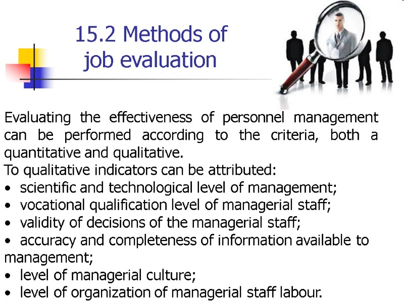 TOPIC 15  PERSONNEL MANAGEMENT PERFORMANCE 15 1  Approaches to